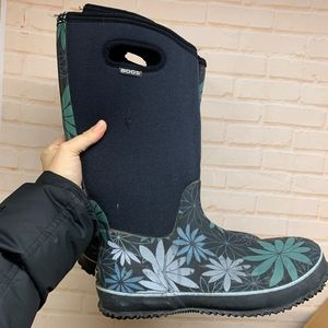 BOGS Womens Classic High Daisy Snow Rain Boots 11